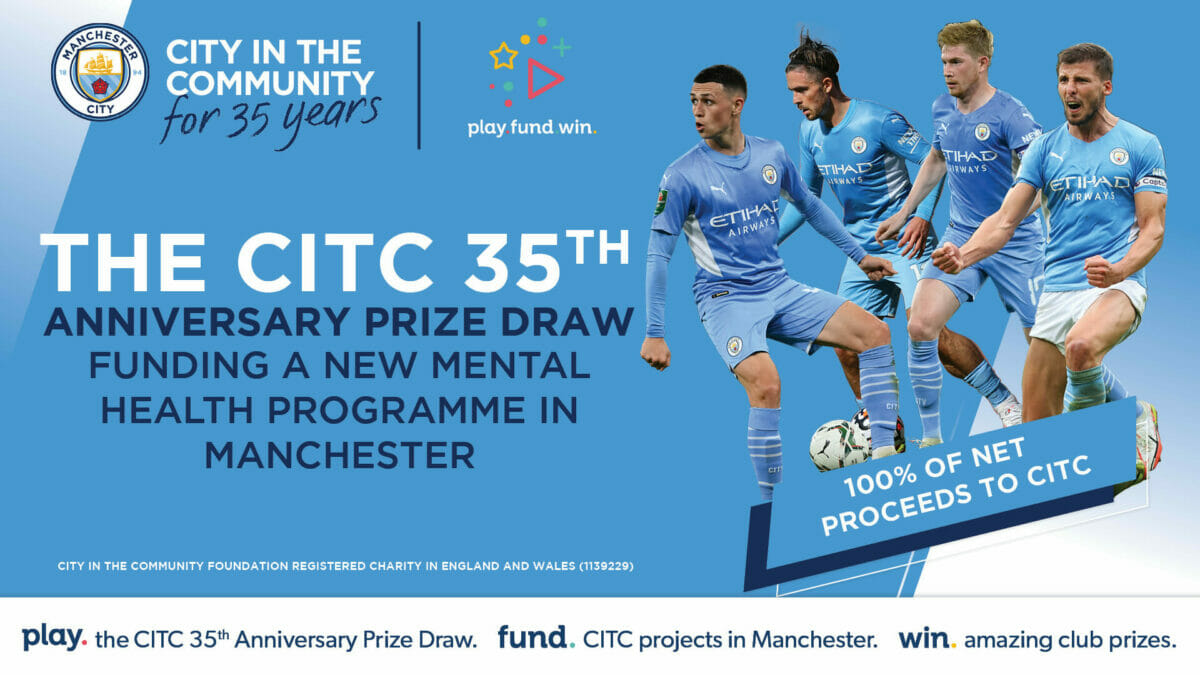 Manchester City's Charity Host Fundraising Draw with Play Fund Win